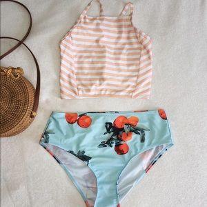 Peach boho bathing suit
